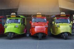 De vloot van Tuktuk Het de traditionele taxi van ` s en één van beroemd iconisch o royalty-vrije stock foto