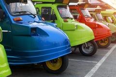 De vloot van Tuktuk Het de traditionele taxi van ` s en één van beroemd iconisch o royalty-vrije stock foto's