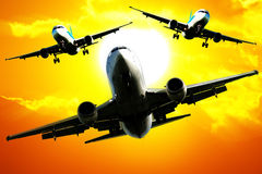 De vloot van vliegtuigen Royalty-vrije Stock Fotografie