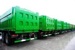 De vloot van vrachtwagens royalty-vrije stock foto's