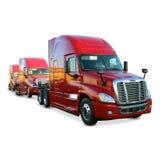 De Vloot Witte Achtergrond van de tractoraanhangwagen royalty-vrije stock foto's