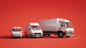 De vlootrood van het wegvervoer royalty-vrije illustratie