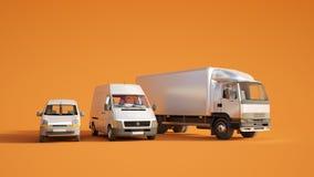 De vlootsinaasappel van het wegvervoer vector illustratie
