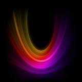 De vlotte achtergrond van technologie lichte lijnen. EPS 8 Stock Afbeeldingen