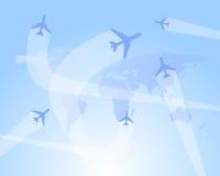 De vlucht leidt vectorachtergrond vector illustratie