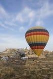 De vlucht van de hete luchtballon in Cappadocia, Turkije Stock Afbeelding