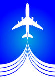 De vlucht van de illustratielucht Royalty-vrije Stock Fotografie