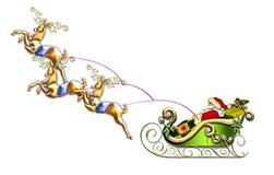 De vlucht van de kerstman Royalty-vrije Stock Foto's