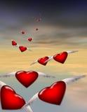 De Vlucht van de liefde stock illustratie