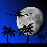 De vlucht van de maan vector illustratie