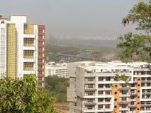 De vlucht van de vogel - 1 De schoonheid van de Mumbaistad van stad Stock Foto