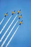 De vlucht van het luchtteam toont Stock Afbeeldingen