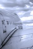 De vlucht van het vliegtuig Stock Fotografie