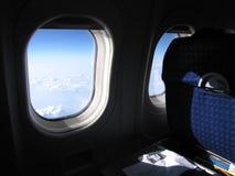 De vlucht van het vliegtuig - mening van de zetel Royalty-vrije Stock Foto's