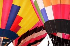 De vlucht van hete luchtballons stock afbeeldingen