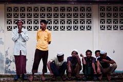 De Vluchtelingen van Rohingya royalty-vrije stock afbeeldingen
