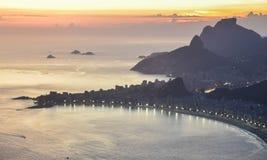 De vluchtmening van de Guanabarabaai brazilië Rio de Janeiro Stock Foto's