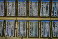 De vluchtprogramma's van de luchtvaartlijn Royalty-vrije Stock Fotografie