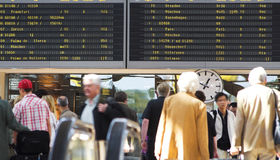 De vluchtprogramma van de luchthaven Royalty-vrije Stock Foto