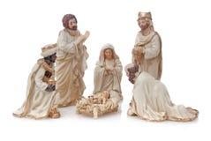 De Voederbak van Kerstmis Stock Afbeeldingen