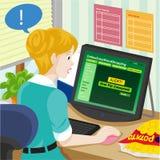 De Voedingscalculator van de voedselgezondheid Online het Winkelen Vectorillustratie Stock Foto