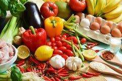 De 5 voedselgroepen Stock Afbeelding