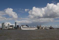 De Voering van de cruise in Liverpool Stock Afbeelding