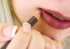 De voering van de lip Stock Fotografie