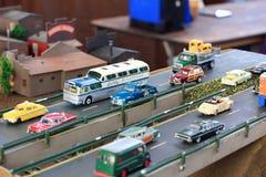 De voertuigen bij vertoning bij de Grote Trein tonen stock fotografie