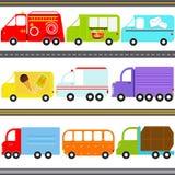 De Voertuigen van de bestelwagen/van de Vrachtwagen/het Vervoer van de Vracht vector illustratie