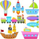 De Voertuigen van de boot/van het Schip/van Vliegtuigen/Vervoer Royalty-vrije Stock Foto's