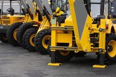 De voertuigen van de bouw Stock Afbeeldingen