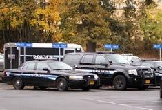 De voertuigen van de politie stock afbeelding