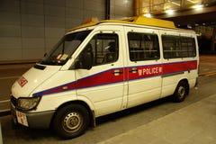 De voertuigen van de politie in Hongkong Royalty-vrije Stock Foto's