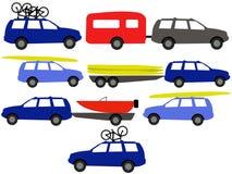 De voertuigen van de recreatie vector illustratie