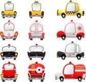 De voertuigen van het beeldverhaal Royalty-vrije Stock Foto's