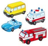 De voertuigen van het beeldverhaal Royalty-vrije Stock Afbeeldingen