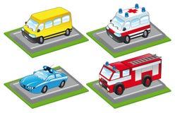 De voertuigen van het beeldverhaal Stock Foto's