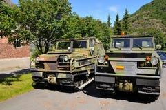 De voertuigen van het leger stock foto