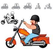 De voertuigenreeks van het beeldverhaal Stock Afbeelding