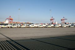 De voertuiginvoer - Fremantle - Australië Royalty-vrije Stock Foto