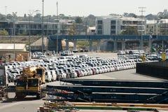 De voertuiginvoer - Fremantle - Australië Stock Foto's