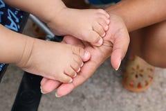de voet van de baby Royalty-vrije Stock Foto