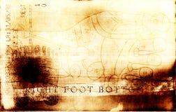 De voet van Grunge- buttom Stock Foto's