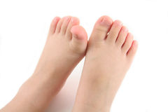 De voet van het kind stock fotografie
