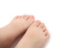 De voet van het kind royalty-vrije stock afbeeldingen