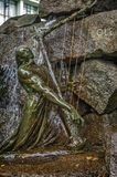 De voet van het monument - fontein aan beroemde Noorse componist Royalty-vrije Stock Afbeelding