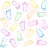 De voetafdruk van de baby Royalty-vrije Stock Afbeeldingen