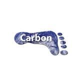 De voetafdruk van de koolstof Stock Afbeeldingen