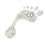 De Voetafdruk van de koolstof Royalty-vrije Stock Fotografie